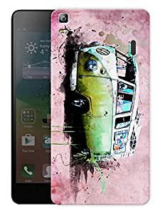 "Humor Gang Mini Travel Van Printed Designer Mobile Back Cover For ""Lenovo K3 Note - Lenovo A7000 - A7000 Plus - A7000 Turbo"" (3D, Matte Finish, Premium Quality, Protective Snap On Slim Hard Phone Case, Multi Color)"