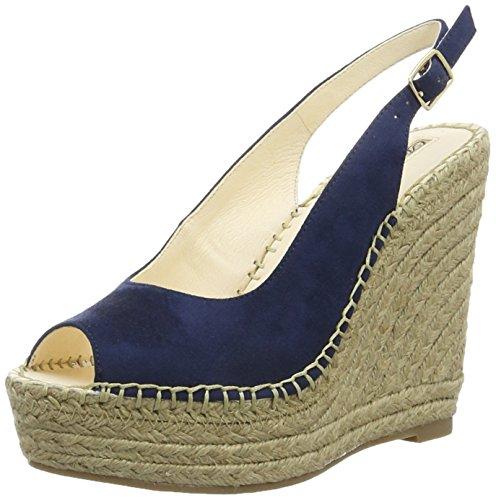 Buffalo London Damen 315-4554 Microsuede Slingback Blau (Blue)