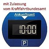 Needit Park Lite elektronische Parkscheibe digitale Parkuhr blau mit offizieller Zulassung