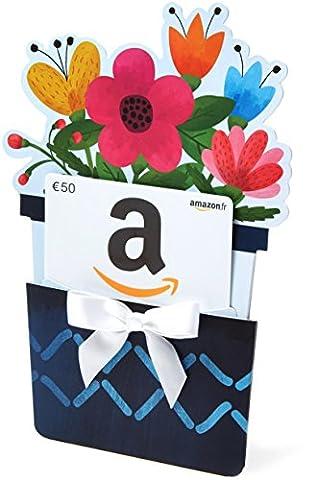 Carte cadeau Amazon.fr - €50 - Dans un étui Pot
