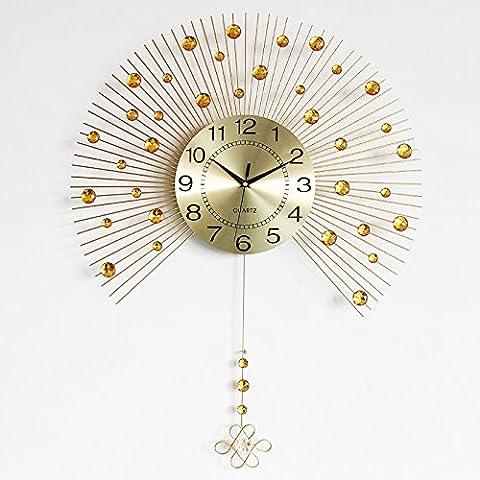 DFFV-Montre créatif sourdine fashion style européen salon-chambre à coucher moderne et simple personnalité stabilisatrice horloge murale (sans pile), 20 poucesCadeau de cadeau de Noël de vacances d'ami cadeau