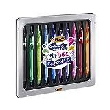 BIC Gel-ocity Quick Dry My Box of Colours Penne Gel Con Punta Media (0,7 mm) - Colori Assortiti, Confezione Regalo In Metallo da 10