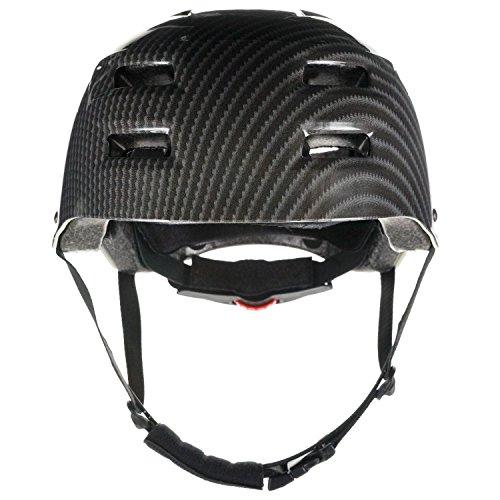 Skullcap® Casco BMX - Casco Skate - Casco Bici, Casco Longboard, Carbono...
