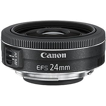 Canon EF-S2428STM Obiettivo Pancake 24 mm F/2.8 STM, Nero/Antracite [Versione Canon Pass Italia]
