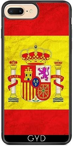 Coque Silicone pour Iphone 7 Plus / 8 Plus - Drapeau Espagne Madrid Barcelona by