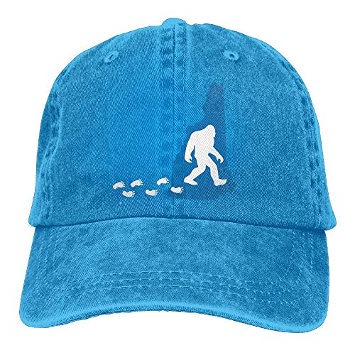 AOHOT Herren Damen Baseball Caps,Hüte, Mützen, Classic Baseball Cap, Sports Denim Cap New Hampshire State Bigfoot-1 Men Snapback Casquettes Adjustable Plain Cap (Halloween New Hampshire)