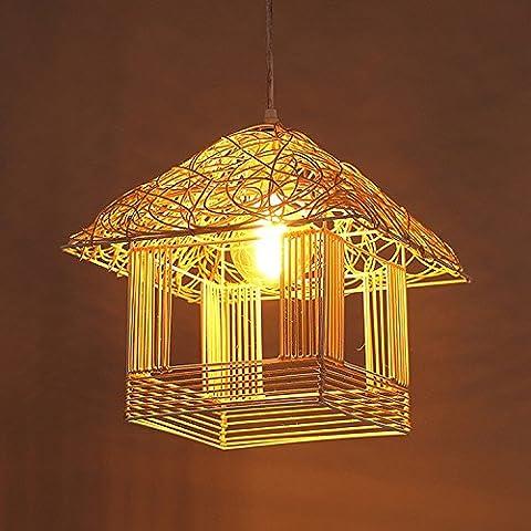 Restaurant, stilvolle Bungalow Rattan Kronleuchter kreative Wohnzimmer Flur Schlafzimmer Lampen Beleuchtung