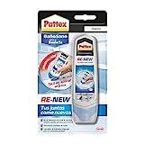 Pattex Baño Sano RE-NEW, silicona blanca para cocina y baño, silicona antimoho fácil de aplicar, sellador de juntas impermeable y resistente al moho, 1x100 ml
