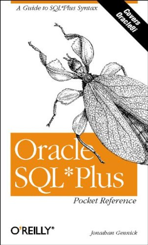 Oracle SQL*Plus Pocket Reference (en anglais) par Gennick