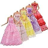 Asiv 5 Pezzi Handmade Abbigliamento Abiti Vestiti Abitini Cresce Moda Fashion Attrezzatura, per Clothes Dresses Bambola Barbie