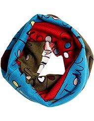 Sannysis® Multicolor niños bufanda; Niños mantón Invierno Pañoleta (Azul)