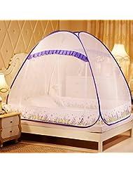 YWQ Mosquiteros mosquiteros de instalación gratis de las mosquiteras estudiantes pueden ser plegados con 1,5 / 1,8 m mosquiteros , B , 1.8 meters