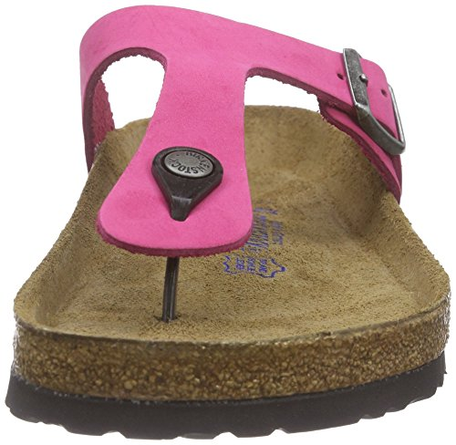 Birkenstock Gizeh Leder Softfootbed, Tongs mixte adulte Rose - Rose