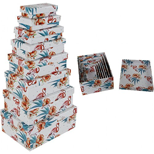 8pieza set regalo Nou Cajas Flamingo Diseño diferentes