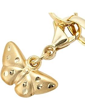 JOBO Einhänger Charm Schmetterling 333 Gold Gelbgold teilmattiert