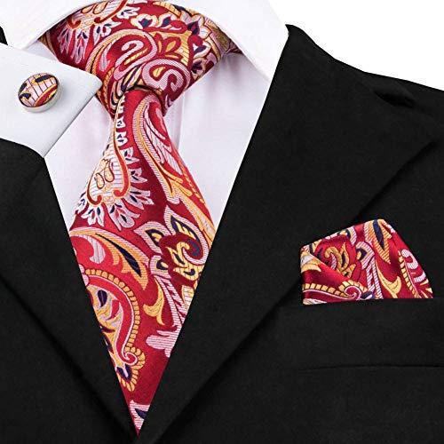 WOXHY Herren Krawatte Sn-532 Heißer Großhandel Goldene Feste Krawatte Manschettenknöpfe Sets Männer Lange Letzte Seidenkrawatten Für Formale Hochzeit Krawatte (Krawatten Männer Großhandel)