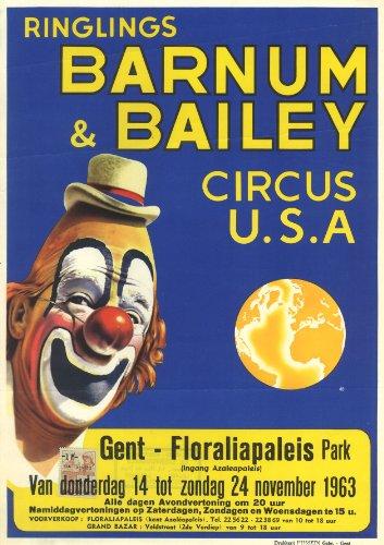 ringlings Barnum und Bailey Circus USA 1963 - Barnum & Bailey Circus-magazin