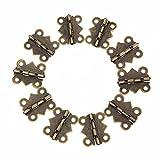suyizn Messing antik Schmetterling Scharnier für Jewelry Box Truhe Holz Schrank Tür Deco (10PCS) zk17