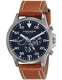 Akribos XXIV Analog Blue Dial Men's Watch-AK773SSBU