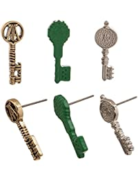 Official Ready Player One RPO Key Earring Set - 3 Pairs