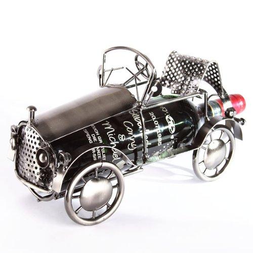 Oldtimer als Metall - Flaschenhalter im Used-Look