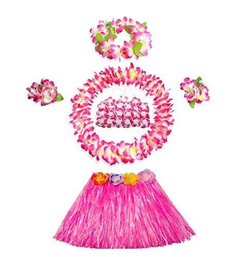Kinder Leistung Kleid Hawaiian Hula Kleidung Kostüm (Tanz Uk Kostüme Themen)