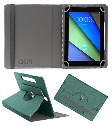 Acm Designer Rotating Leather Flip Case for Zync Z900 Plus Cover Stand Turquoise  available at amazon for Rs.169