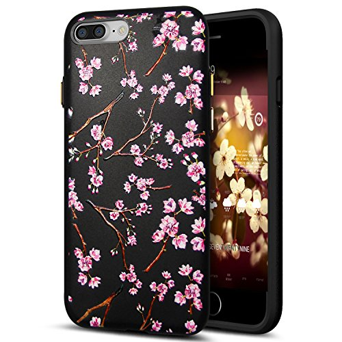 Cover iPhone 8 Plus,Cover iPhone 7 Plus,Custodia iPhone 8 Plus / iPhone 7 Plus Cover,ikasus® Cover custodia iPhone 8 Plus / iPhone 7 Plus disegno colorato TPU con 3d arte pittura floreale fiore fiori  Fiore #10