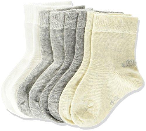 s.Oliver Baby 4er Pack Socken aus weicher Baumwolle Unisex Söckchen , Grau (Grey 10), 23/26 (4erPack
