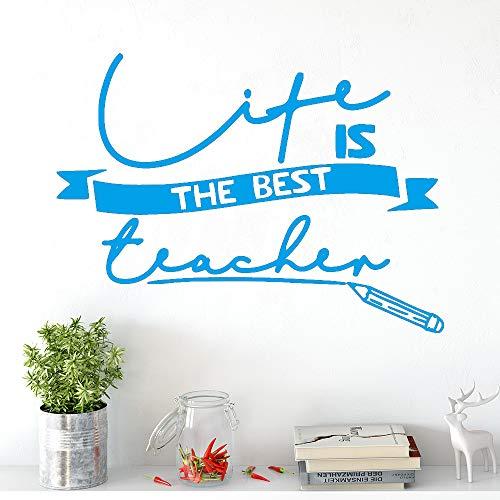 yiyiyaya Schönheit Leben Lehrer Selbstklebende Vinyl wasserdichte wandkunst Aufkleber Wohnzimmer Schlafzimmer Dekoration zubehör wandbilder blau 43 cm x 59 cm
