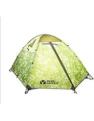 Exterior camping anti tormenta 3 triple cuarto de aluminio tienda , light green