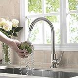 BONADE Edelstahl Küchenarmatur hoher Auslauf 360° drehbarer Wasserhahn Küche Spültischarmatur Gebürstet Mischbatterie Spül Armatur Einhebelmischer