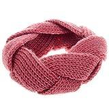 Fashion Twist Crochet Strick Stirnband Kopfband Haarband (Rosa)