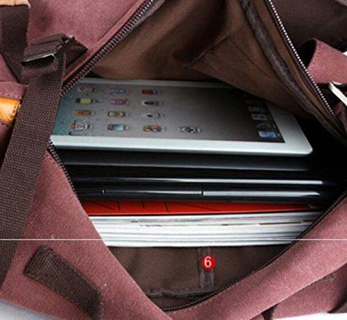 Multifunktionale Großraumtasche Leinwand Reisetasche,B A