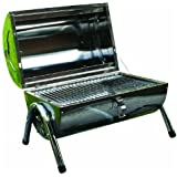 PORTABLE TABLETOP STAINLESS STEEL BBQ BARBEQUE FOLDING DOUBLE GRILL CAMPING