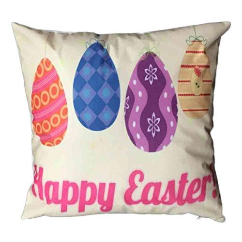 Jamicy Pasqua Festival divano-letto casa decorativo Ultra-velluto 45cm * 45 centimetri federa K