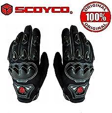 Scoyco - MC29 - Motorcycle Full Finger Glove (L, Black)