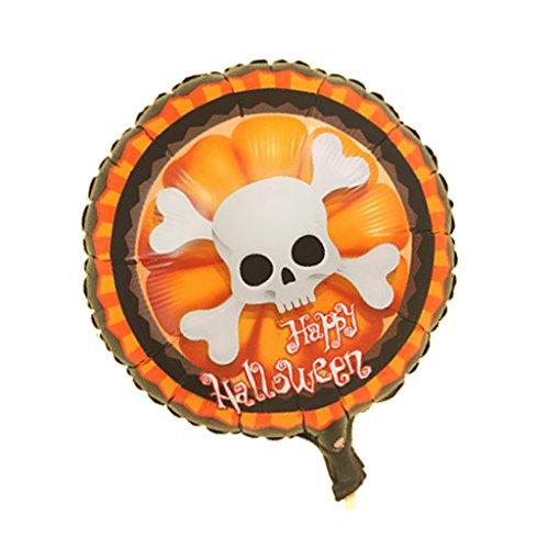 Imagen de sharplace 1 pieza de globo de hoja calabaza de papel decoración halloween disfraces  #1