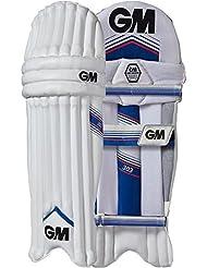 Gunn y Moore 303 críquet almohadillas pierna Mens guardias niños, color Blanco - blanco, tamaño hombres