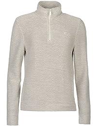 Ocean Pacific Damen 1/4 Zip Waffel Sweatshirt Langarm Stehkragen Pullover