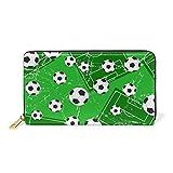 COOSUN Fußball-Tor und Fußball-Leder-Kupplungs-Geldbeutel-lange Mappen-Kartenhalter-Organisator L Multicolor # 001