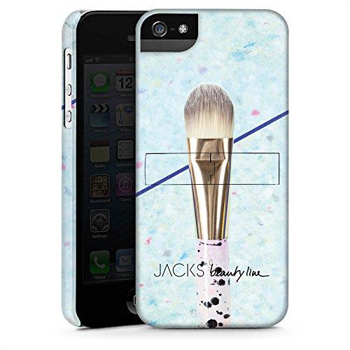 Apple iPhone 5s Housse Étui Protection Coque Pinceau Maquillage Maquiller CasStandup blanc