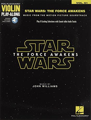 Star Wars: The Force Awakens: Violin Play-Along Volume 61 (Violin Playalong Vol 61)