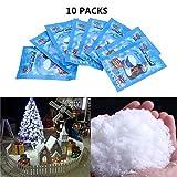 i-Sure 9 g SAP artificiales instantáneas nieve esponjosas super absorbentes decoraciones de jardín de temporada decoración del hogar acentos para Navidad, boda y juegos para niños(Paquete de 10)