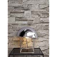 Steintapete Vliestapete Grau , Schöne Edle Tapete Im Steinmauer Design ,  Moderne 3D Optik Für Wohnzimmer