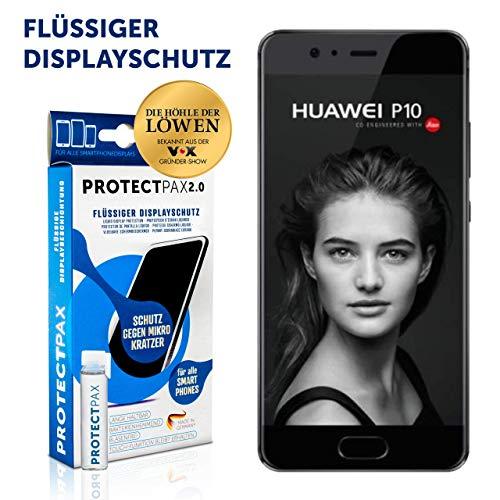 ProtectPax Huawei P10 Displayschutz – Original - Flüssiges Displayglas – Unsichtbare Panzerglasfolie gegen Kratzer – Blasenfreie Aufbringung – Nano Versiegelung - Antibakterielle Schutzfolie