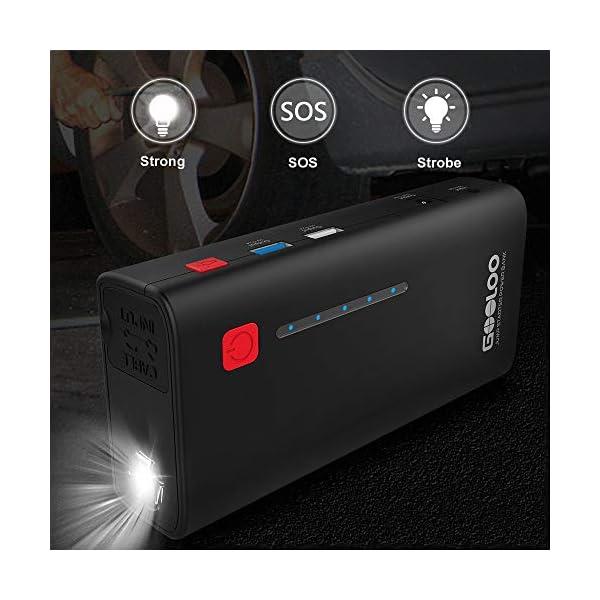 GOOLOO Arrancador de Coches, 18000mAh 1200A Arrancador para Baterías de Coche (Hasta Motores de 7.0L de Gasolina o 5.5L…