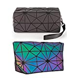 (MEDIUM) - Laser Makeup Bags WORLDS FIRST Light Reflective Material - GLOWS IN THE...
