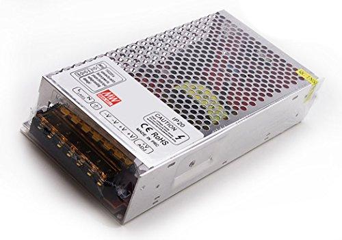Fuente de alimentación LED, transformador, 12V dc, 320W, 215x 115x 50mm, MeanWell con ventilador