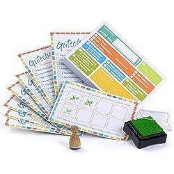 lib-elle 4260343842125 Aufgabenliste für Kinder - Klebezettel Set mit Belohnungssystem